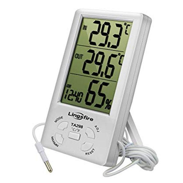 เครื่องวัดอุณหภูมิและความชื้นแบบดิจิตอลเครื่องวัดอุณหภูมิและความชื้นแบบดิจิตอลLINGSFIRE-TA298